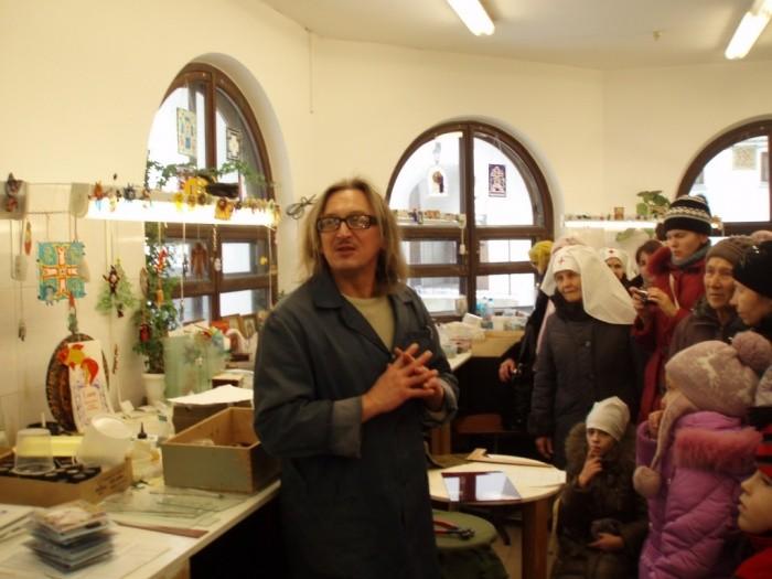 В мозаичной мастерской  Свято-Елисаветинского монастыря  г.Минск