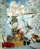 Б.Кустодиев  «Зима. Крещенское водосвятие»